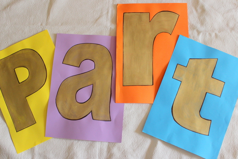 PART letters for SCRAM game