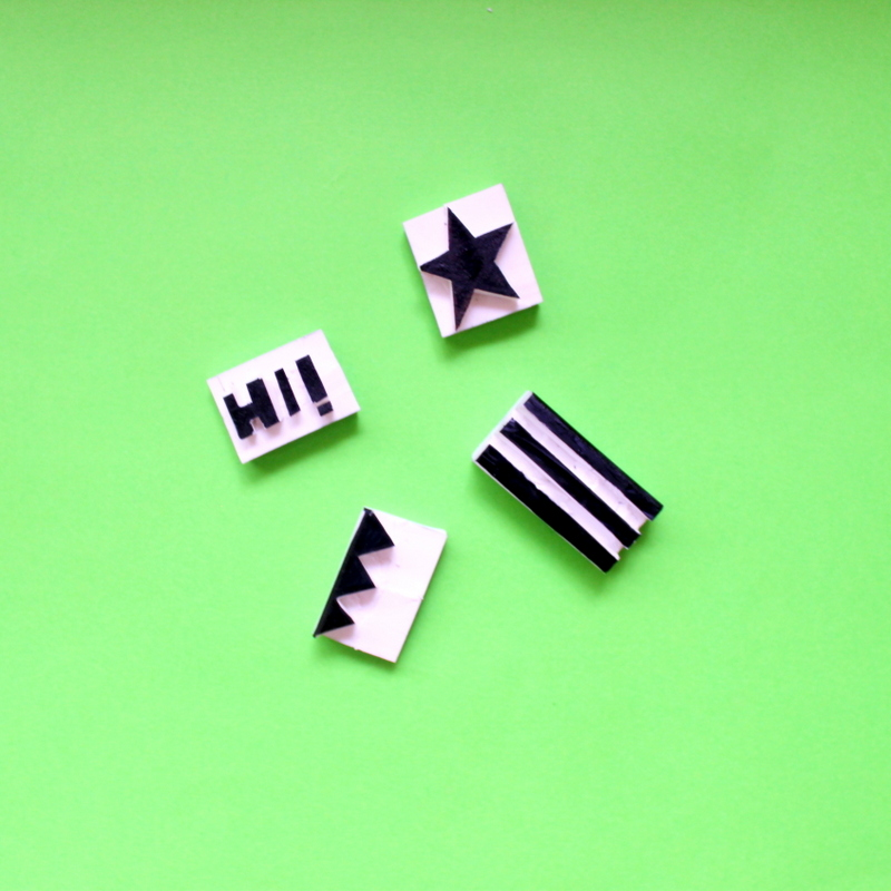 handmade stamps using erasers