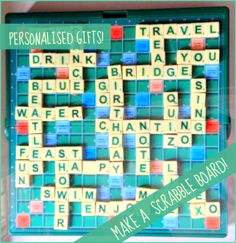 personalised scrabble board