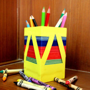 Add colour to your pen stand!