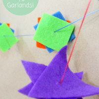 DIY tutorial on how to make polygon garlands