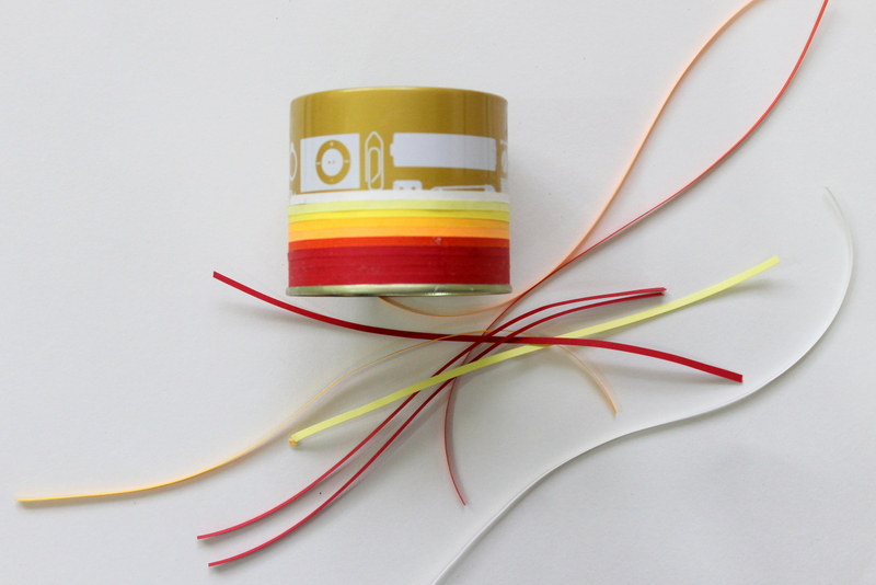 How to cover jars with quilling ribbon