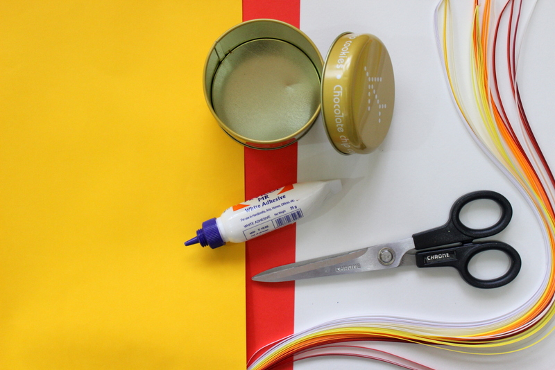 Materials to make quilling jars