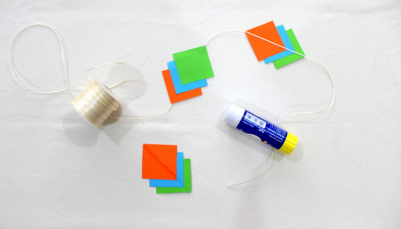Step 2 how to make polygon garlands