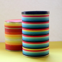 jars made with quilling ribbon