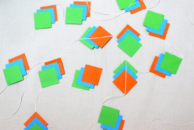 Step 3 how to make polygon garlands