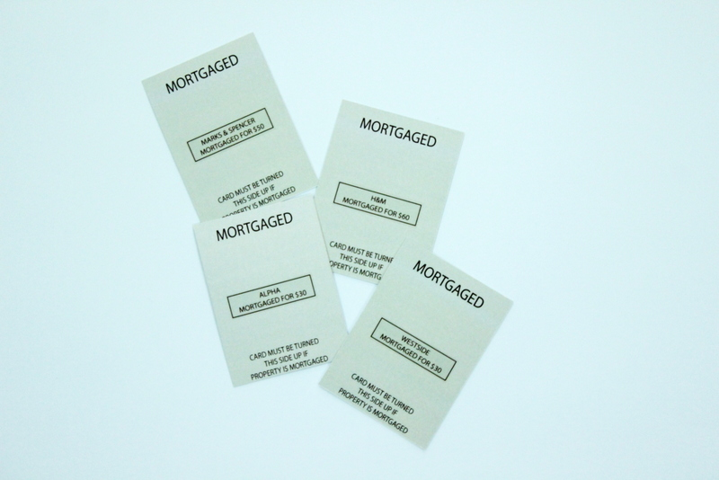 personalised monopoly cards