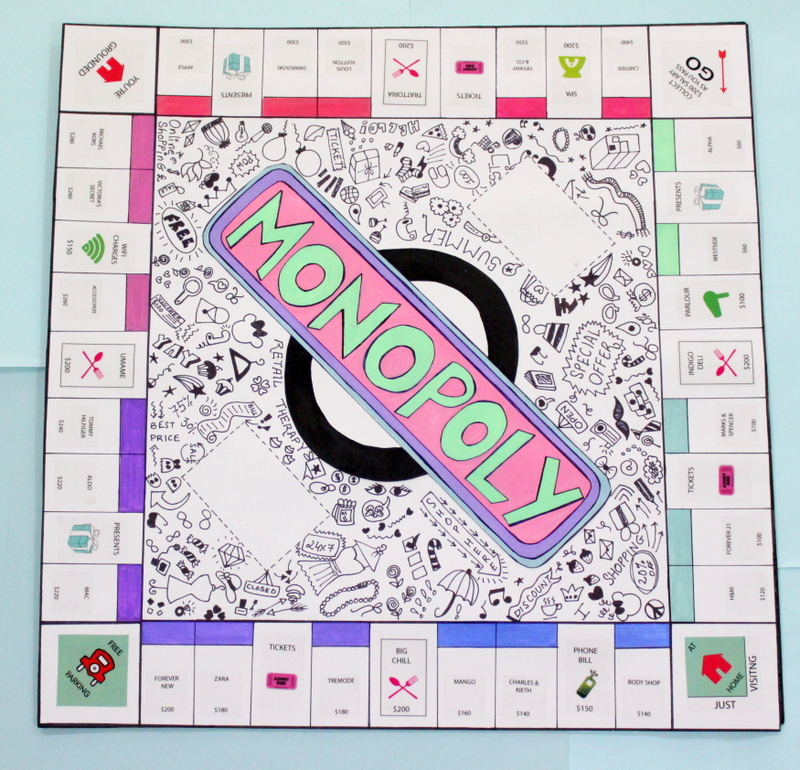 finished custom monopoly board
