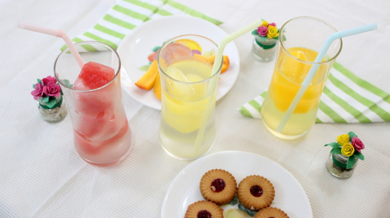 Flavored ice in glasses - The Craftables