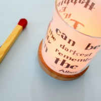 quote that inscription candle