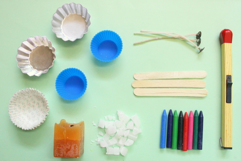 Materials for cupcake candles - The Craftables