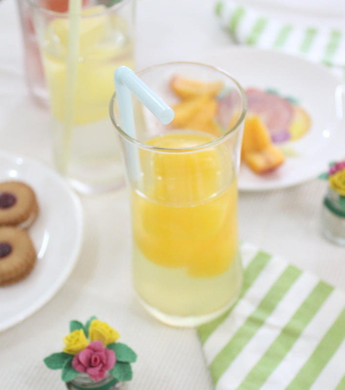 Orange ice in a glass - The Craftables