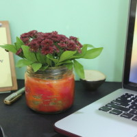 Red Orange Gold Yellow Pot - The Craftables