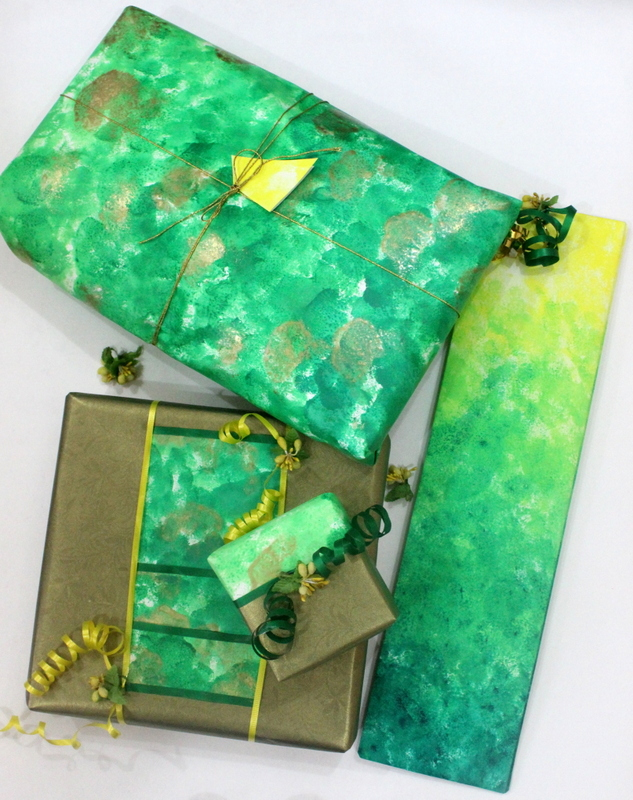 Sponge wrapping paper - The Craftables