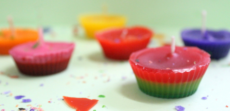 cupcake candles 2 colors - The Craftables