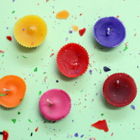 cupcake candles - The Craftables