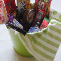 Finished candy bucket