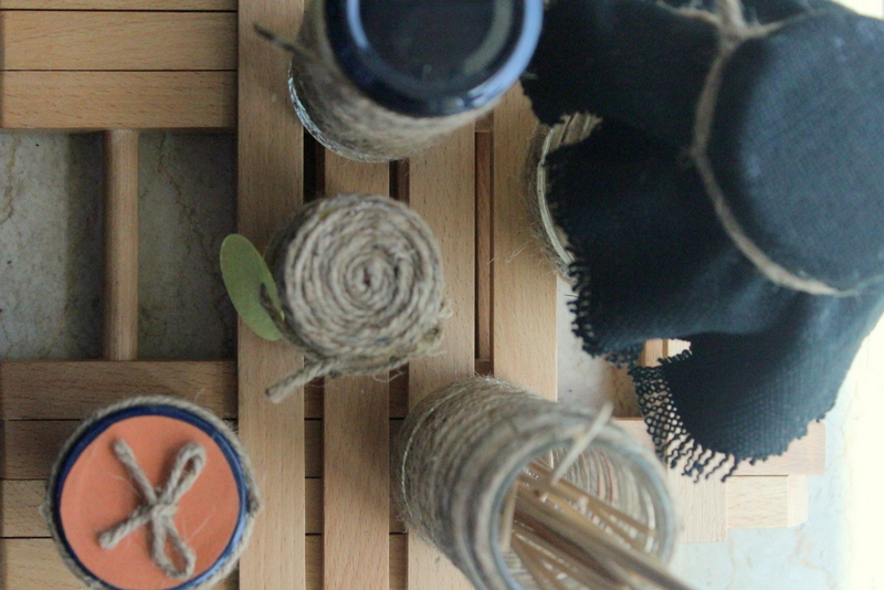 Finished twine jars top shot