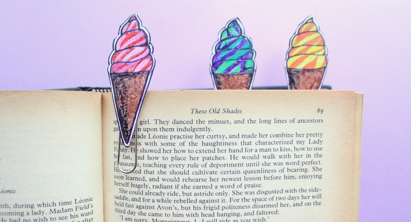 markers on a book