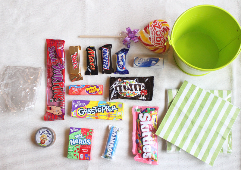 materials for candy bucket