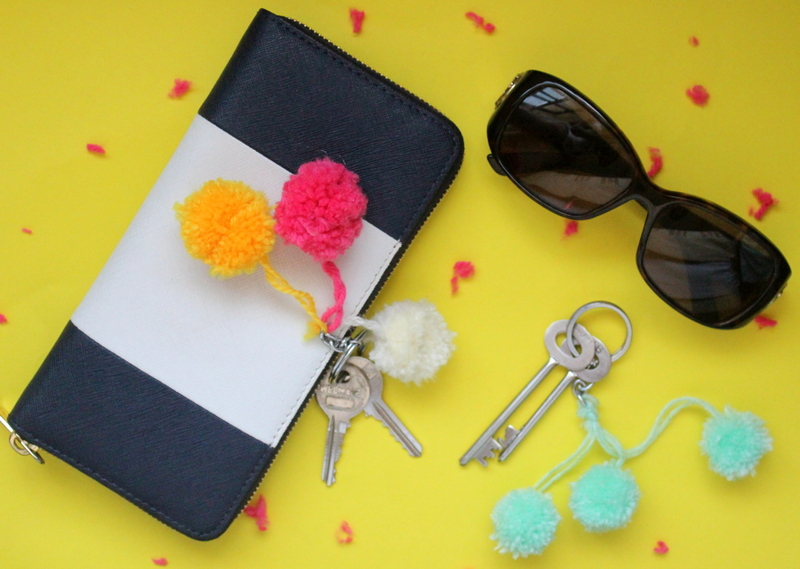 pom pom keychains - The Craftables, Craft ideas, DIY, do it yourself,