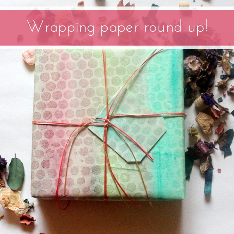 wrapping paper round up - The Craftables