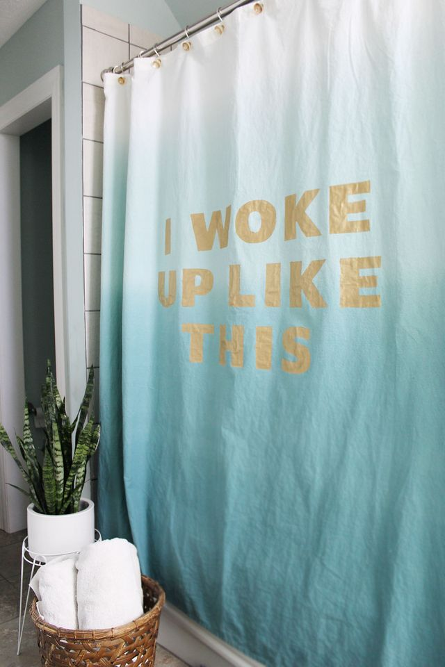 DIY, shower curtain, Handmade, hand painted, gift ideas, DIY ideas, DIY projects, tutorials, customised, crafts, art and crafts