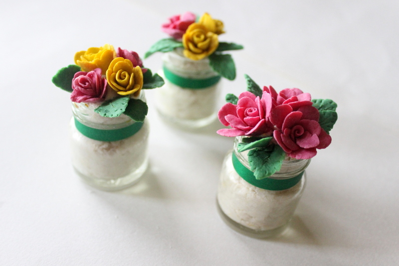 floral bread art paperweights