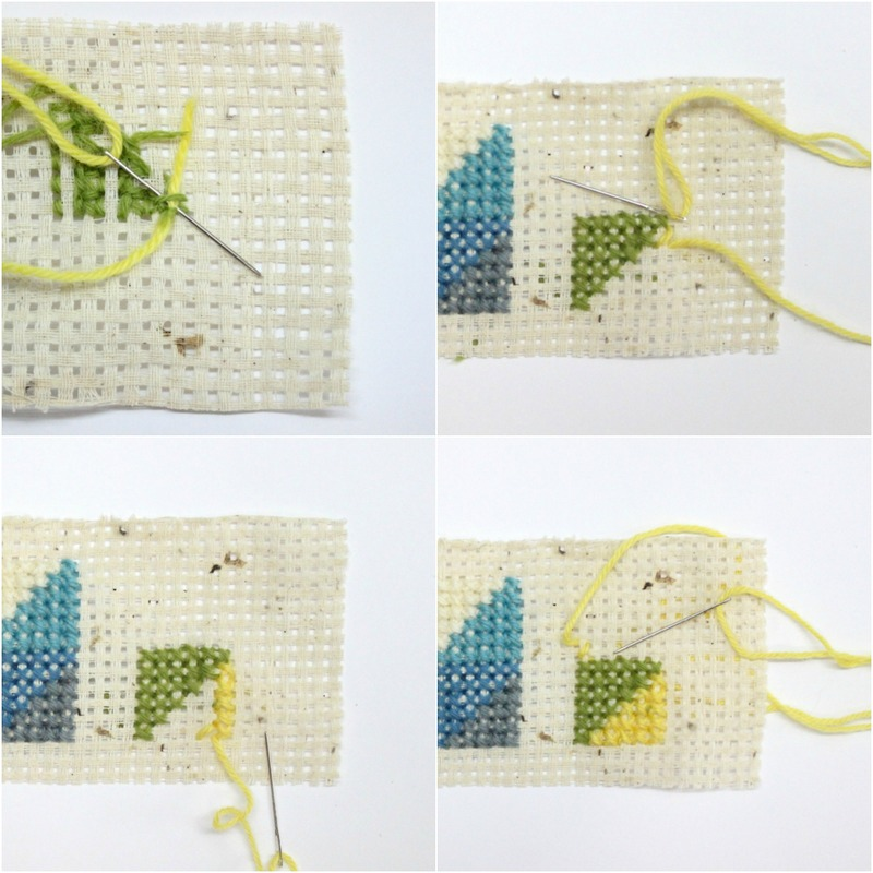 How to Cross Stitch, basics, art and crafts, sewing, knitting, tapestry, bag tags, handmade, colorful, crafts, DIY, techniques
