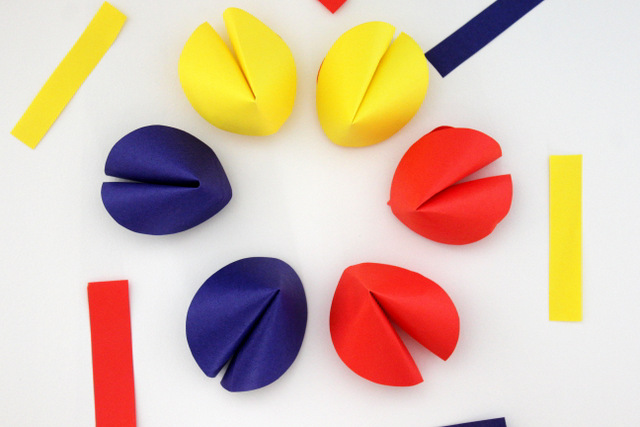fortune cookie paper craft