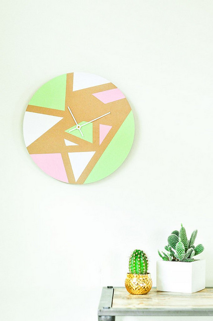How to make clocks, personalised, handmade, DIY, crafts, crafts for kids, decor, room decor, blogs, curated, how to make DIY clocks, handmade,  geometric, wall clock, the proper blog