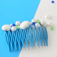 DIY Shell Hair Combs!