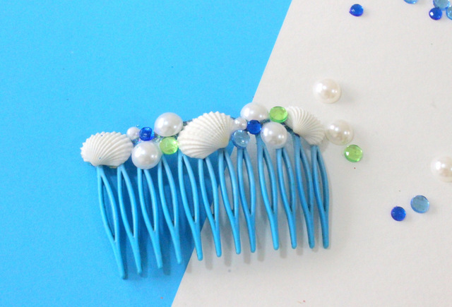 How to make DIY Sea shell Hair Combs using easy steps!