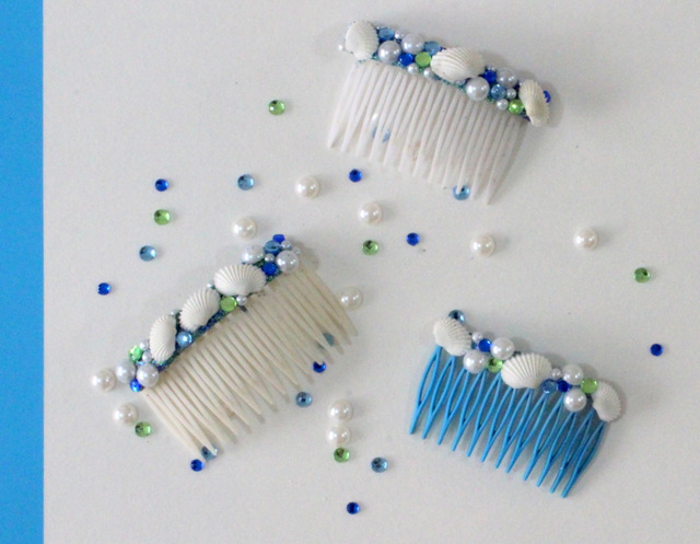How to make DIY Seashell Hair Combs using easy steps!