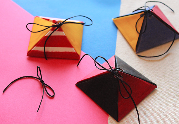 DIY customised triangle boxes