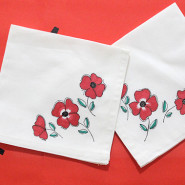 How to make Floral Cocktail Napkins without Paint!