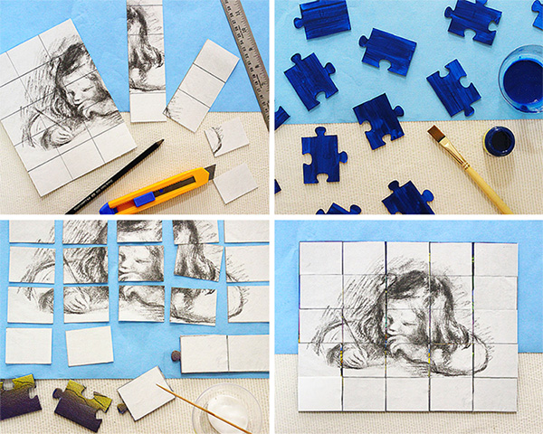 How to make a customised puzzle with any picture, using easy steps