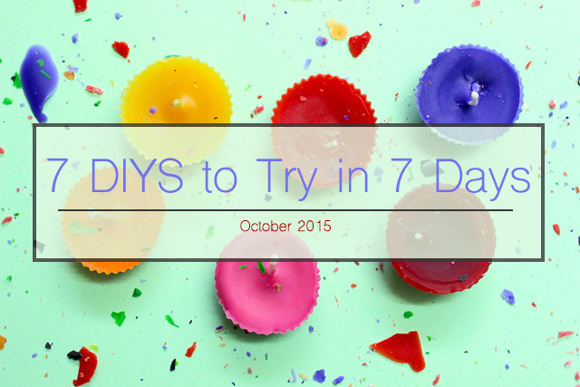 7 DIYS to try in 7 Days | Our weekly roundup of 7 amazing DIY projects to get your creative juices flowing - The Craftables