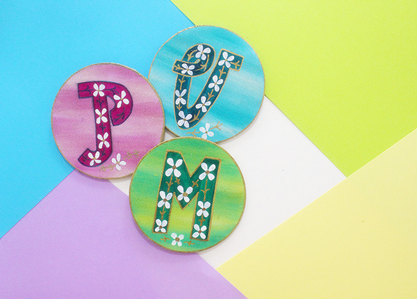 Personalised DIY Letter Magnets Tutorial By The Craftables.