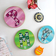 How to make Personalised Letter Magnets!