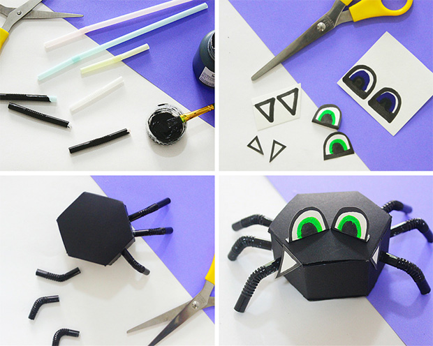 How to make spider candy boxes for Halloween! - The Craftables Tutorial