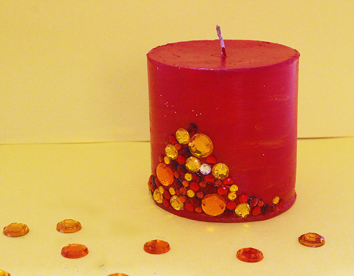 How to make Decorative Candles on a Budget