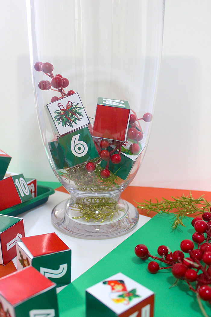 How to make a DIY Christmas Advent Jar + Free Template