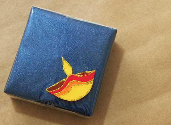 Last Minute Diwali Gift Wrapping - Pop Up Diyas