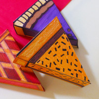 How to make Paper Pie Boxes for Thanksgiving!