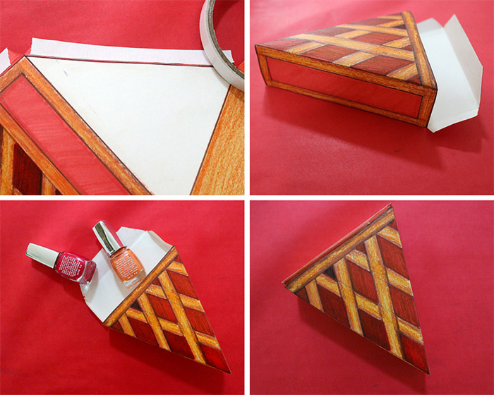 steps on how to make paper pie boxes for thanksgiving