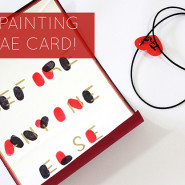 DIY : Card Finger Painting with Bae!