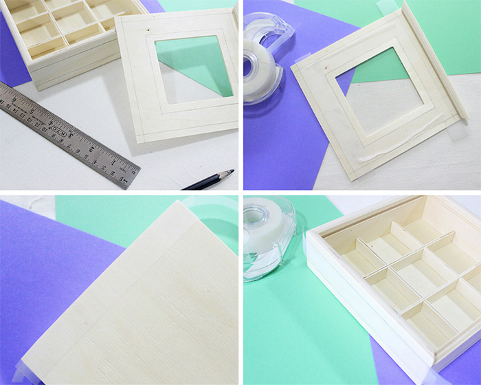 making stationery box compartments