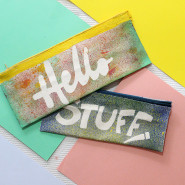 How to make a DIY Pencil Case without sewing!