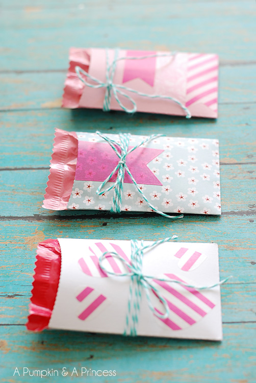 make paper pockets for valentines day